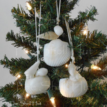 Beach Seashell Ornament Shell Wall Decor Christmas Tropical Coastal Beac... - $9.99