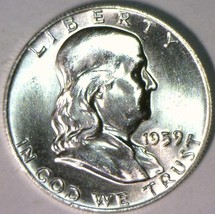 1959 Franklin Half Dollar; Gem BU - $69.29