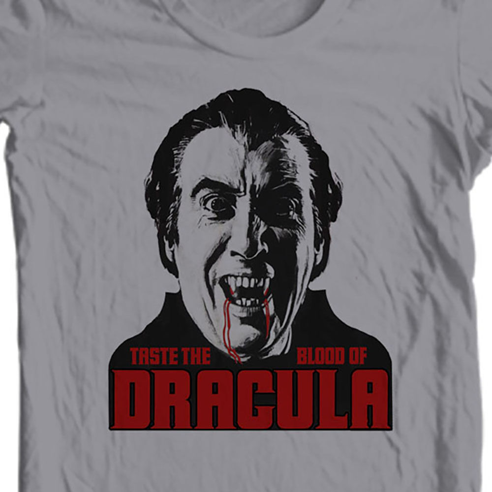 Taste the Blood of Dracula t-shirt Christopher Lee old horror film free shipping