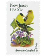 1982 20c State Birds & Flowers, New Jersey, Goldfinch, Violet Scott 1982... - €1,65 EUR