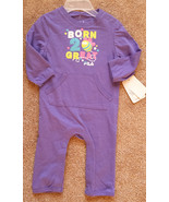 NWT Girl's Size 6-9 M Months FILA Purple Pocketed Born 2 Bee Great Pants... - $16.00