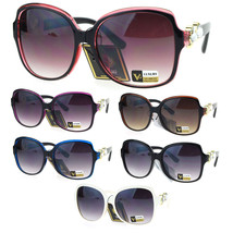 Womens Heart Rhinestone Bling Hinge Oversize Butterfly Sunglasses - $16.94 CAD