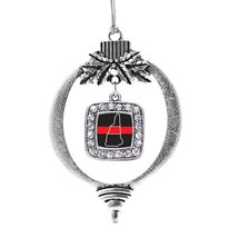 Inspired Silver New Hampshire Thin Red Line Classic Holiday Ornament - $14.69