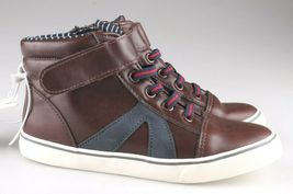 0Cat & Jack Toddler Boys' Brown Ed Sneakers Mid Top Shoes 12 US NWT image 5