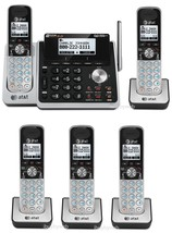 AT&T TL88102 DECT 6.0 2 Line 5 Cordless Phones w/ Answering System NEW - $249.75