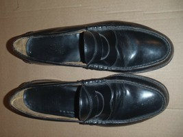 Johnston & Murphy Aristocraft Penny Loafers Size 10.5 E  BLACK Mens - $37.39