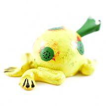 Handmade Oaxaca Copal Wood Carving Folk Art Spotted Frog Bobble Head Figurine image 5
