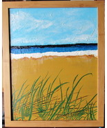 """Seagrass, Original Acrylic Painting, with Silver Frame 11 X 14""""  Free Sh... - $47.00"""