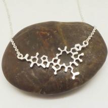 Silver Oxytocin Molecule Necklace Choker  - $55.00