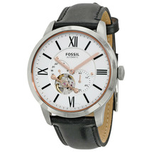 Fossil Townsman White Dial Black Leather Men's Watch ME3104 - $123.09
