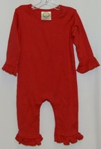 Blanks Boutique Long Sleeve Red Snap Up Ruffled Romper 12 months - $28.00