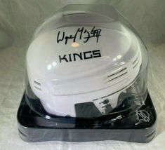 WAYNE GRETZKY / NHL HALL OF FAME / AUTOGRAPHED LOS ANGELES KINGS MINI HELMET COA image 8