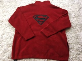 SUPERMAN PULLOVER SWEATER MENS HOODIE JACKET COAT SHIRT WARNER BROS LARG... - $27.72