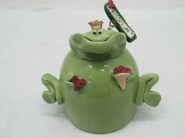 Clayton Dickson Co Clay Frog Bank, Kisses $.25, Pottery - $16.78