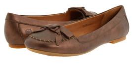 New Born Louise Leather Flat Ballet Ballerina Shoe Slip-On Brown Metalli... - $49.49
