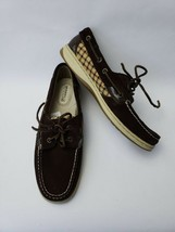 Sperry Top Sider Boat Shoes Flats Lace Up Brown Suede G10 CH196 Womens Size 7.5M - $64.30