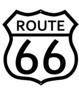 (3) Route 66 White Black Cut Out Garage Metal Sign 7.5x7.5 - $31.68