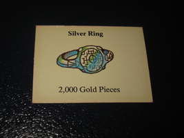 1980 TSR D&D: Dungeon Board Game Piece: Treasure 4th Level Card- Silver Ring - $1.00