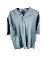 NAUTICA GOLF Men's Light Gray Short Sleeve Polo 100% Cotton Shirt Size L... - $14.36