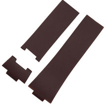 26mm BROWN Rubber Watch Strap Band Compatible with ULYSSE NARDIN 353-68L... - $34.00