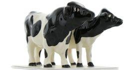 Hagen Renaker Miniature Holstein Bull and Cow Ceramic Figurine Set image 9