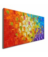 Seekland Art Hand Painted Texture Large Oil Painting on Canvas Abstract ... - $129.84