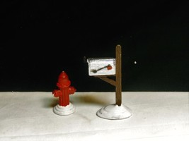 SUPER SALE- DEPT 56 -MAILBOX & FIRE HYDRANT-MIB - $8.59