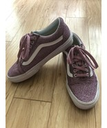 Vans Old Skool Pink Glitter lace up Woman Size 8.5 - $79.19