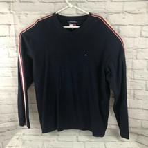 Tommy Hilfiger Men's Shirt Sweater Size XXL Cotton V-Neck Pullover Flag ... - $17.42