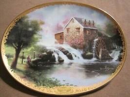 LAMPLIGHT MILL collector plate THOMAS KINKADE Lamplight Village - $19.99