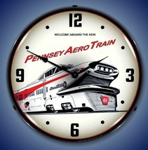 New old style Pennsey Aero Train LIGHTED clock American made Free Fast S... - $139.95