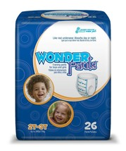 Wonder Training Pants for Boys and Girls Size 2t - 3t One Pack of 26 - $9.50