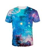 Shiny Starry Night Men's Short Sleeve T-shirt Full Printing, Large , L=US M - $16.07