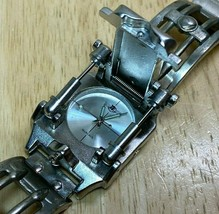 Rare Vintage MARCAUX Men Robot Style Silver Analog Quartz Watch Hour~New... - $73.88