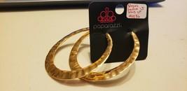 Paparazzi Earrings (New) Slayers Gonna Slay Gold #0086 - $8.58