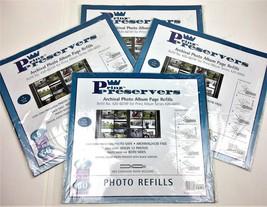 Prinz Preservers Archival Photo Album Page Refills Lot 4 New 420-601RF 2... - $36.45