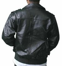 NEW Live Mechanics RFL Riders For Life Rockabilly Black Genuine Leather Jacket image 6
