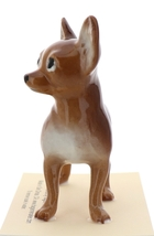 Hagen-Renaker Miniature Ceramic Dog Figurine Chihuahua Pedigree Mama Brown