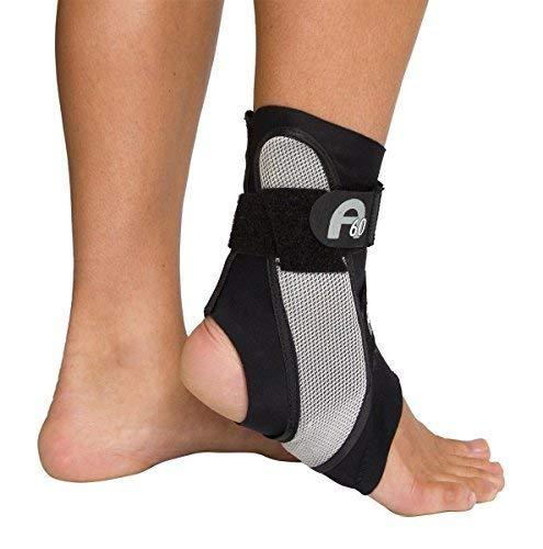 Aircast A60 Ankle Support Brace, Right Foot, Black, Small (Shoe Size: Men's 4 -
