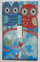 Owl Love patterns Light Switch Outlet wall Cover Plate Home Decor