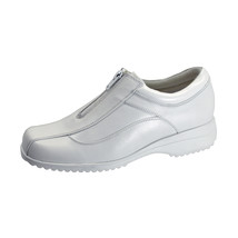 24 HOUR COMFORT Trish Wide Width Leather Comfort Shoes with Zipper - $49.95