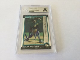Mark Mulder Signed Autographed Card Slabbed Encapsulated Beckett BAS COA b - $74.24