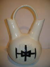 Tribal Vase Wedding gifts Handmade Double Spouted vase pitcher Artist signed - $250.00