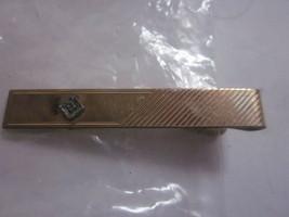 VINTAGE ANSON 1/20 12K GOLD FILLED TIE CLIP W/DIAMOND ACCENT - $9.99