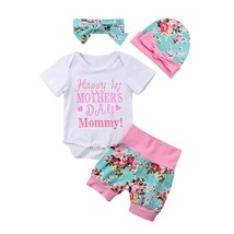 "Kids Baby Girls Clothes Floral Cotton Romper Tops Letter Print Mother""s ... - $11.39"