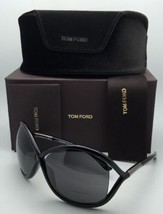 New TOM FORD Sunglasses WHITNEY TF 9 199 64-14 110 Black Frames with Grey Lenses