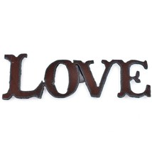 """Country Western Rusted Patina Iron Metal Cutout """"LOVE"""" 4.75"""" Magnet"""