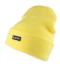 Bloodbath Project BLDBTH Safety Yellow Knit Beanie Winter Skull Cap Hat