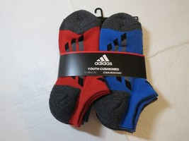 Adidas Youth Cushioned Climalite Stain Resistant Socks No Show 6 Pair 13... - $39.59