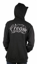 Wu Tang Clan C.R.E.A.M. Tattoo Black Cotton Poly Pullover Hoodie 43WU0101 NWT image 2